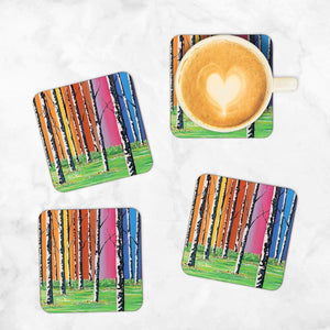 Caledonian Forest - Set of 4 Coasters