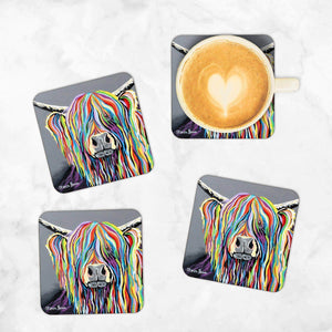 Charlie McCoo - Set of 4 Coasters