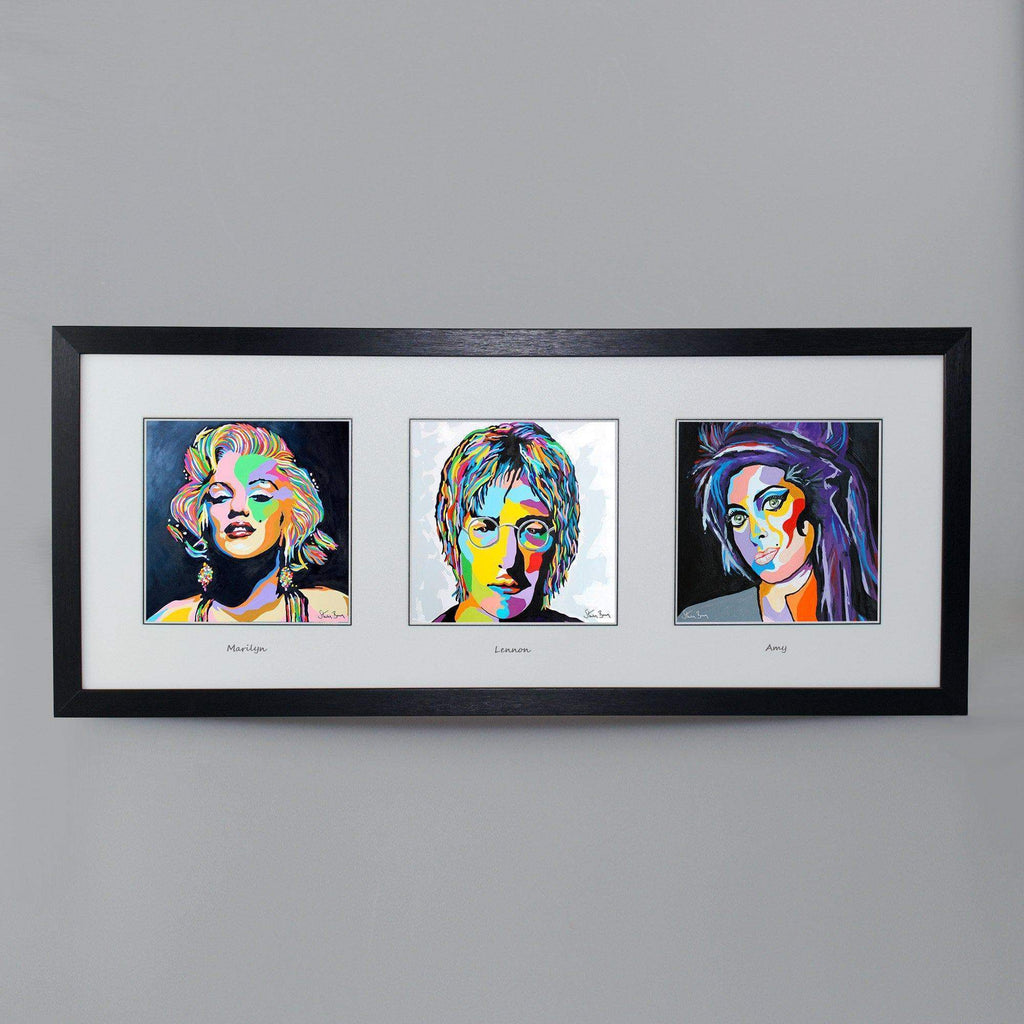 Famous Faces Collection - Triptych