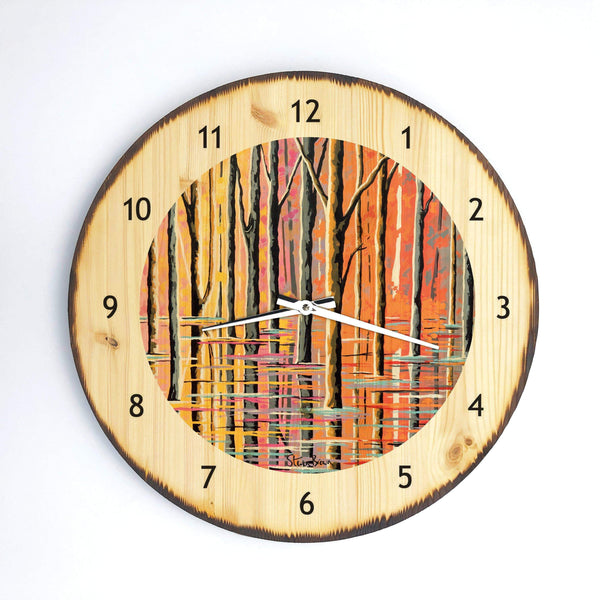 Forest Of Loch Lomond - Wooden Clock