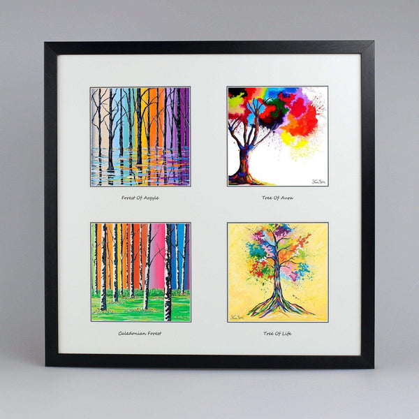 Forests & Trees Collection - Quad Framed