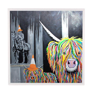 Geordie McCoo & The Wee Yin - Framed Limited Edition Aluminium Wall Art