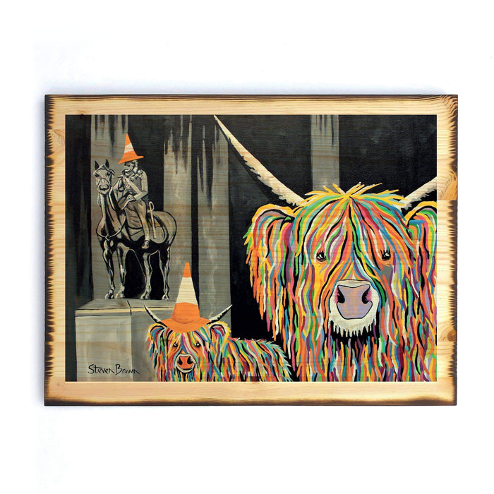 Geordie McCoo & The Wee Yin - Timber Print