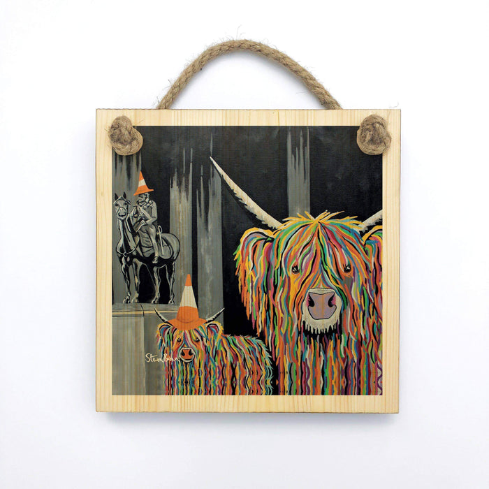 Geordie McCoo & The Wee Yin - Wooden Wall Plaque