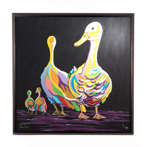 George & Mildred McGeese - Framed Limited Edition Aluminium Wall Art