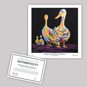 George & Mildred McGeese - Mini Limited Edition Print