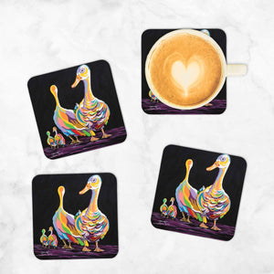 George & Mildred McGeese - Set of 4 Coasters