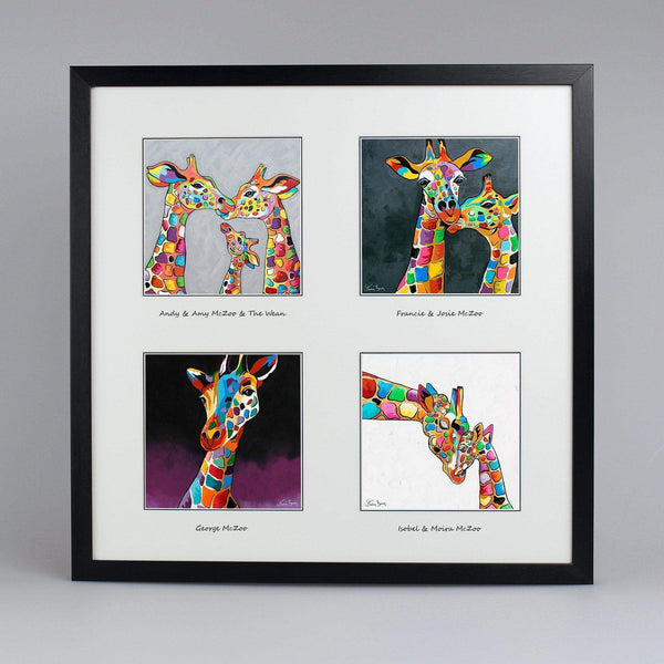 Giraffes Collection - Quad Framed