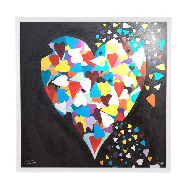 Heart of Hearts - Framed Limited Edition Aluminium Wall Art