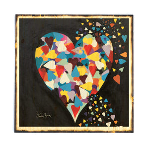 Heart Of Hearts - Timber Print