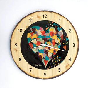 Heart of Hearts - Wooden Clock