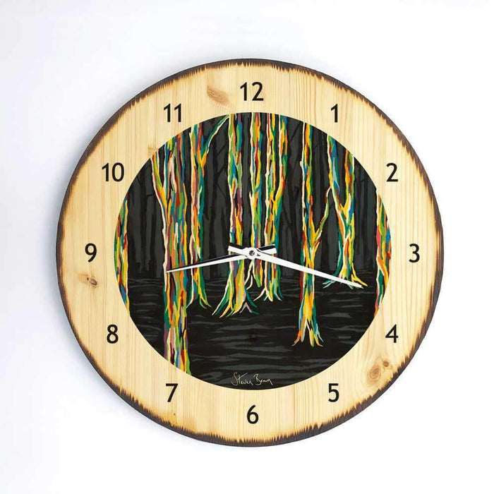 Highland Forest - Wooden Clock
