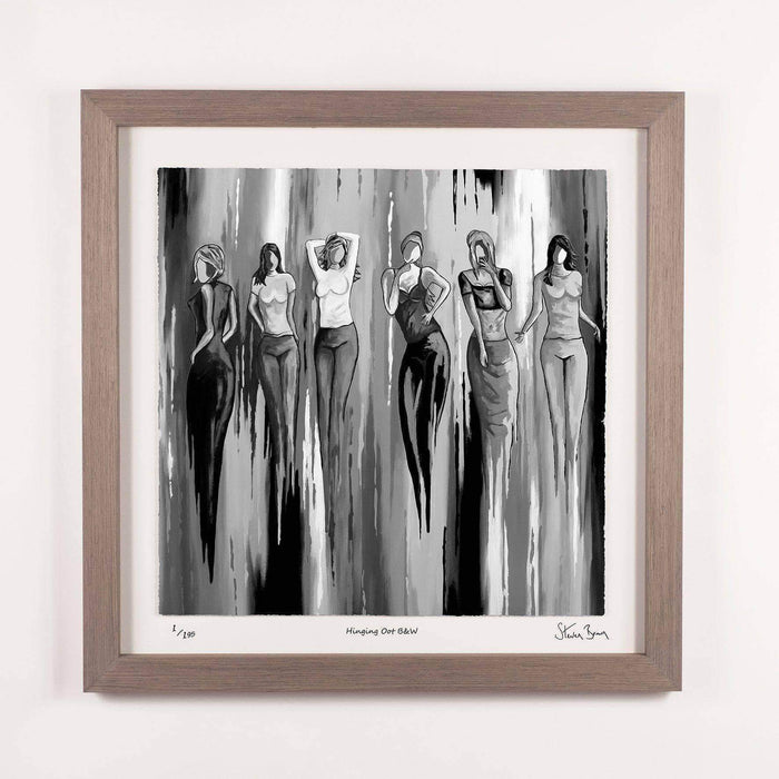 Hingin Oot B+W - Framed Limited Edition Floating Prints