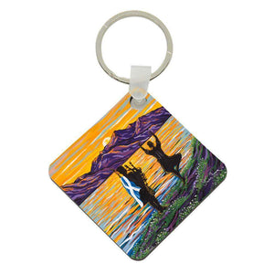 home too - Acrylic Keyring