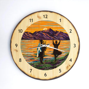 home too - Wooden Clock