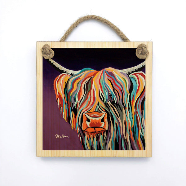 Huey McCoo - Wooden Wall Plaque