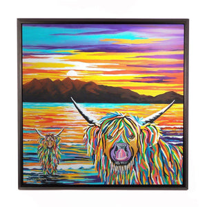 Isla & Arran McCoo - Framed Limited Edition Aluminium Wall Art