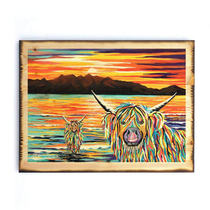 Isla & Arran McCoo - Timber Print