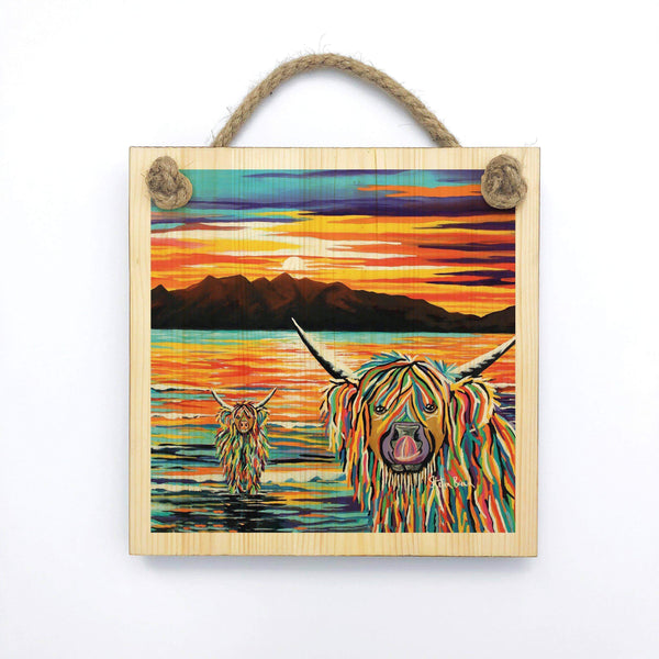 Isla & Arran McCoo - Wooden Wall Plaque