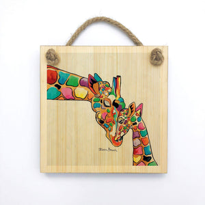 Isobel & Moira McZoo - Wooden Wall Plaque
