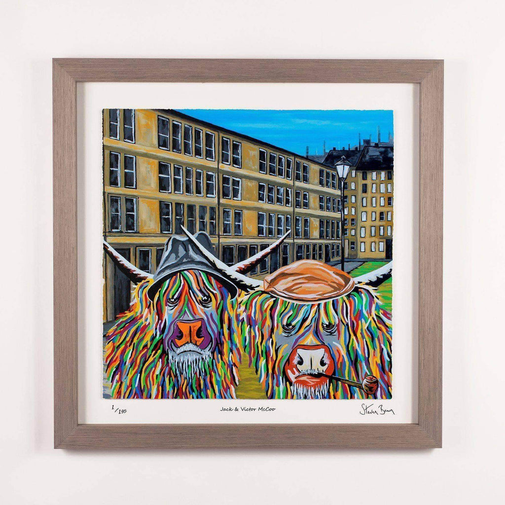 Jack and Victor McCoo - Framed Limited Edition Floating Prints