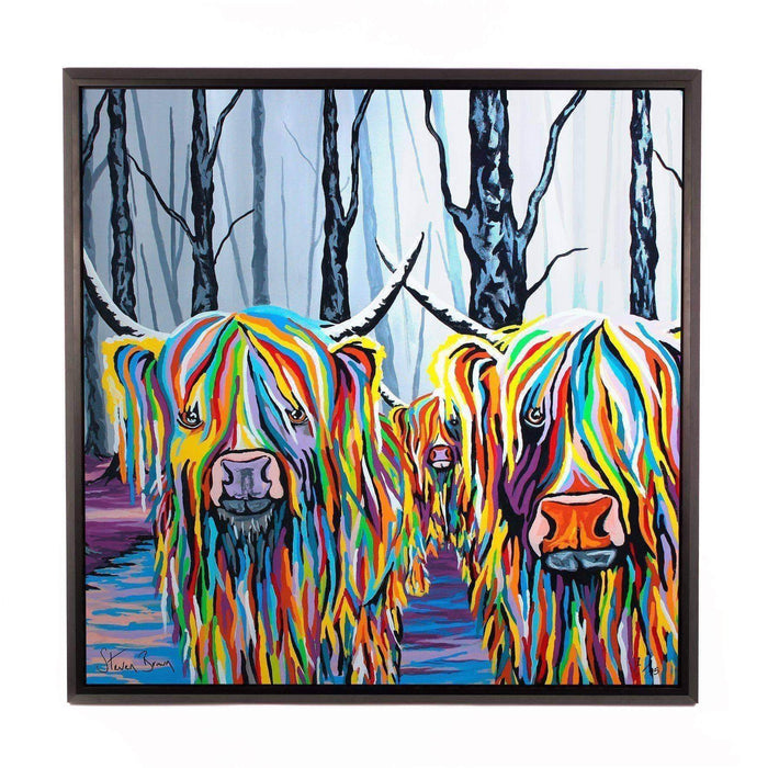 Jean & Bob McCoo and The Bairn - Framed Limited Edition Aluminium Wall Art