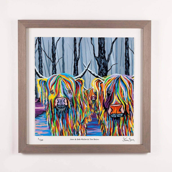 Jean & Bob McCoo and The Bairn - Framed Limited Edition Floating Prints