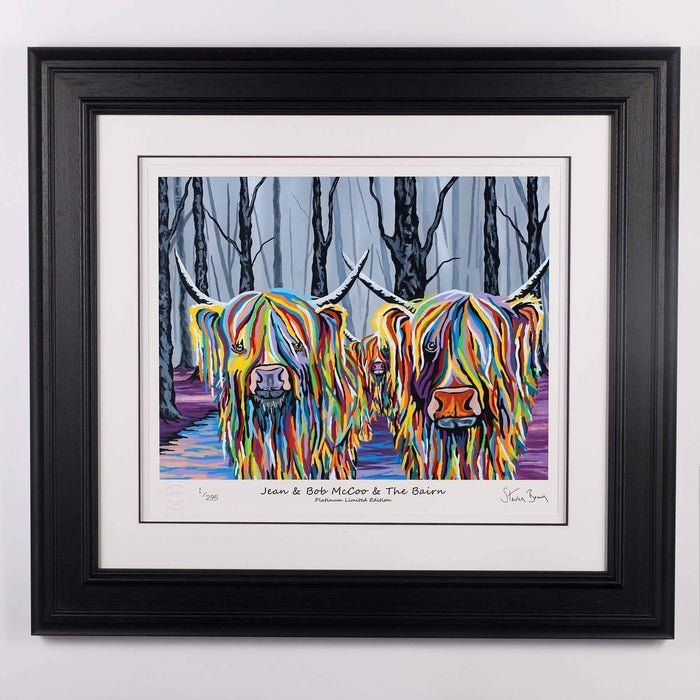 Jean & Bob McCoo and The Bairn - Platinum Limited Edition Prints