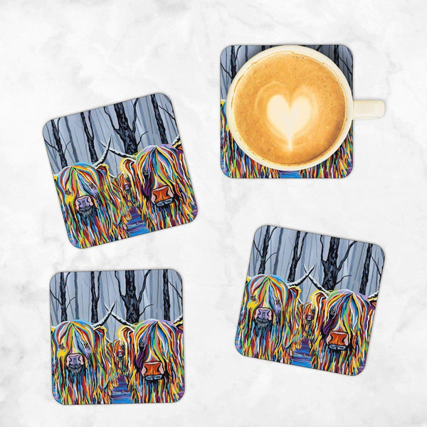 Jean & Bob McCoo and The Bairn - Set of 4 Coasters