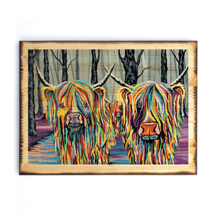 Jean & Bob McCoo and The Bairn - Timber Print