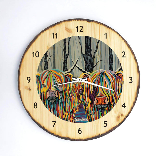 Jean & Bob McCoo and The Bairn - Wooden Clock