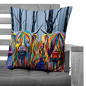 Jean & Bob McCoo and the Bairns - Faux Suede Cushions