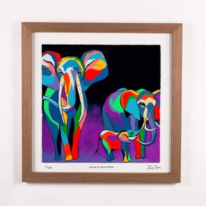 Jimmy & Agnes McZoo - Framed Limited Edition Floating Prints
