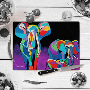Jimmy & Agnes McZoo - Glass Chopping Board