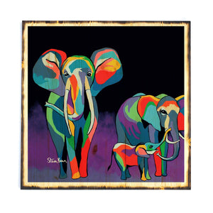 Jimmy & Agnes McZoo - Timber Print