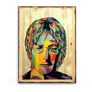 John Lennon - Timber Print