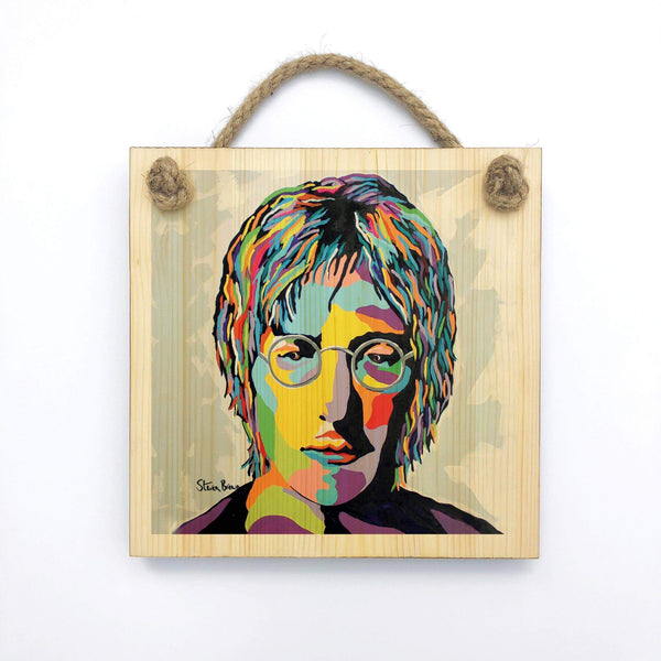John Lennon - Wooden Wall Plaque