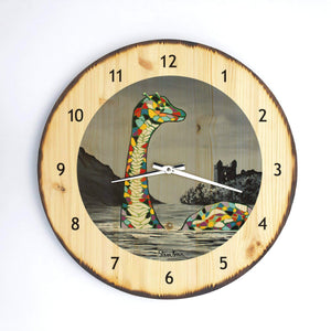 Lady McNessie- Wooden Clock