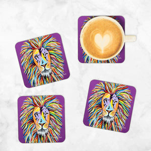 Lewis McZoo - - Set of 4 Coasters