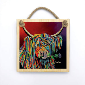 Lizzie McCoo - Wooden Wall Plaque