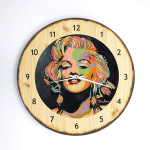 Marilyn Monroe - Wooden Clock