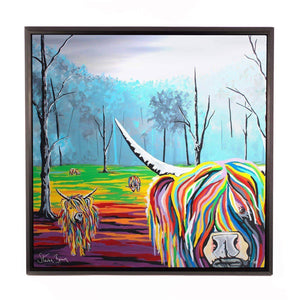 Mary McCoo & The Weans - Framed Limited Edition Aluminium Wall Art
