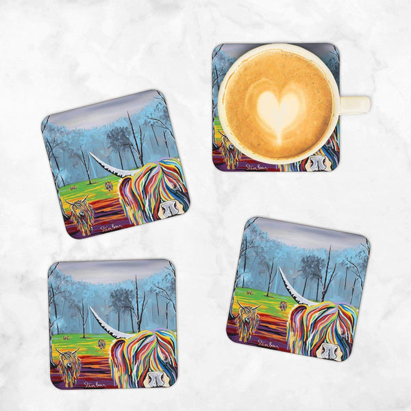Mary McCoo & The Weans - Set of 4 Coasters