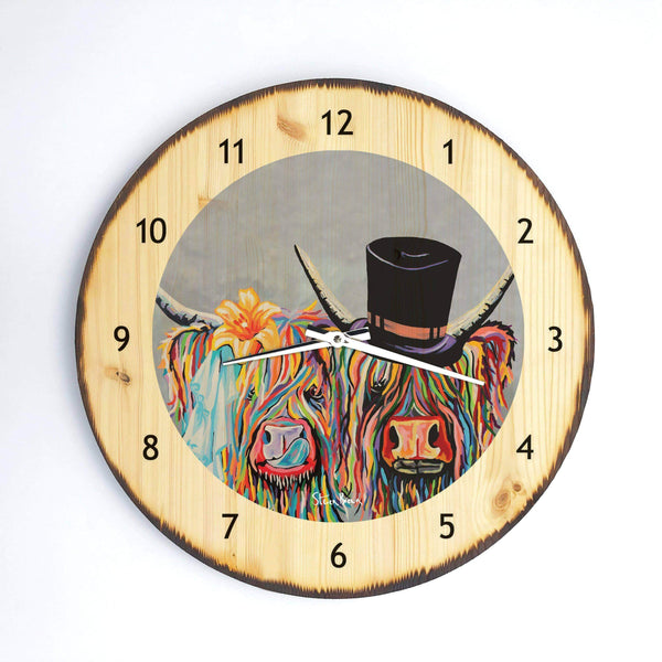 McHappily Ever After - Wooden Clock