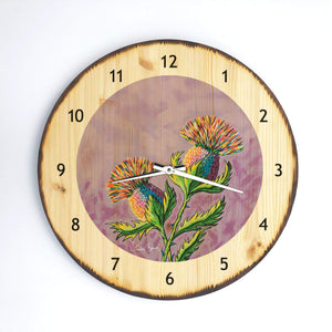 McThistles - Wooden Clock