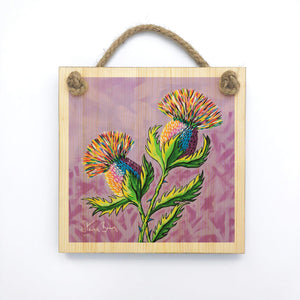 McThistles - Wooden Wall Plaque
