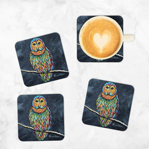 Ollie McOwl - Set of 4 Coasters