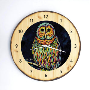 Ollie McOwl - Wooden Clock