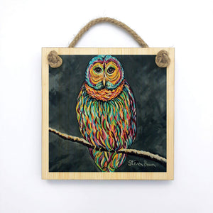 Ollie McOwl - Wooden Wall Plaque
