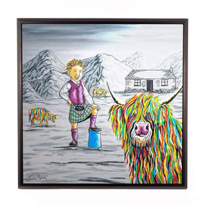 Oor Wullie & Big Tam McCoo - Framed Limited Edition Aluminium Wall Art